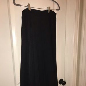 Black Knit Flared Skirt